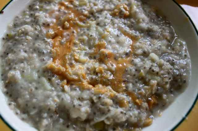 porridge and nut butter