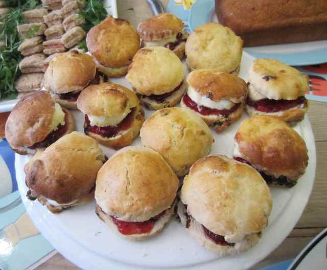 scones and cream and jam