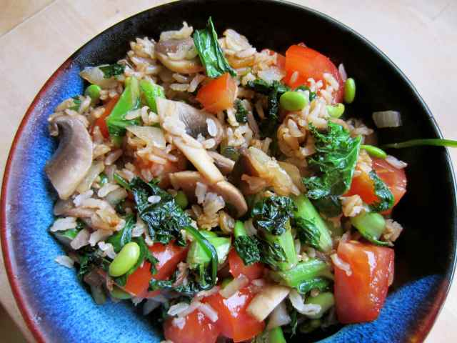stir fried rice and veg 2