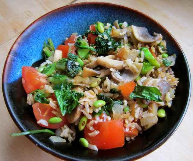 stir fried rice and veg