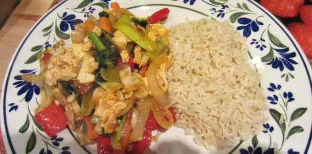 Szcechuan tofu and rice