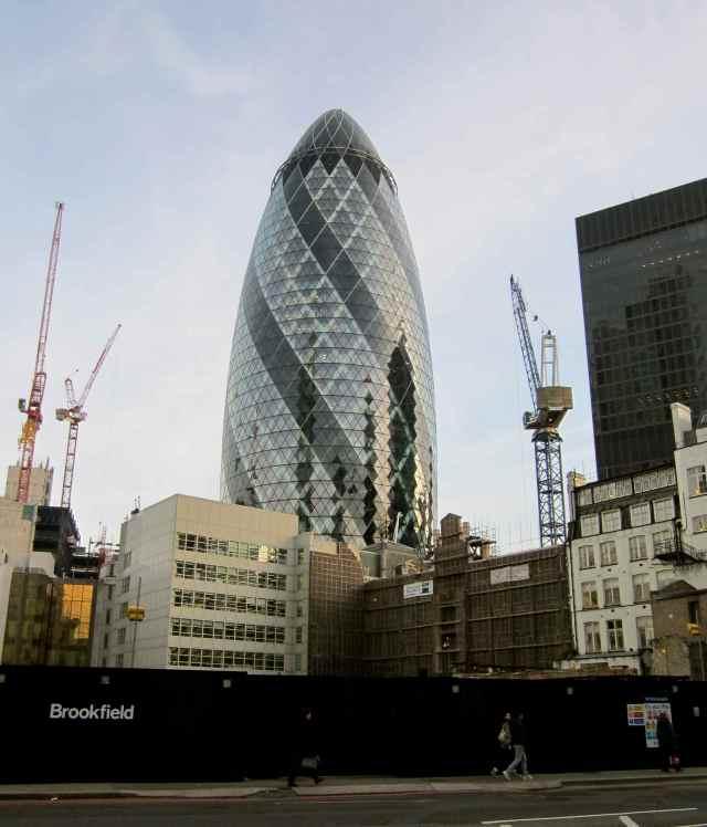 The Gherkin amongst building works