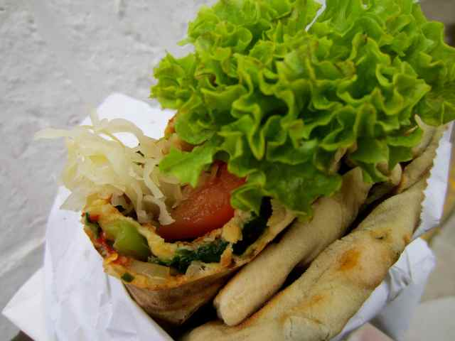 Turkish flatbread wrap 2