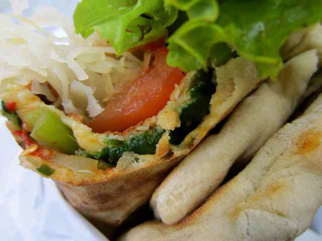 Turkish flatbread wrap 3