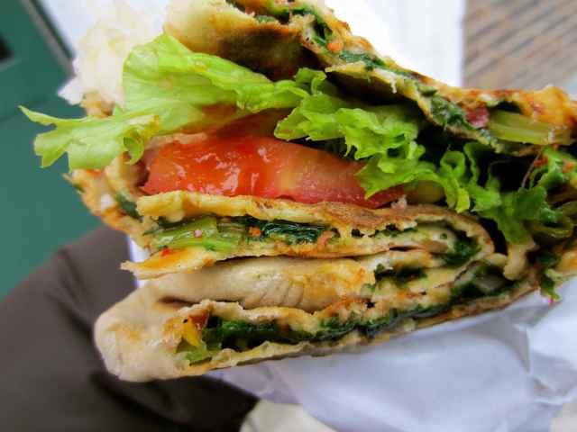 Turkish flatbread wrap