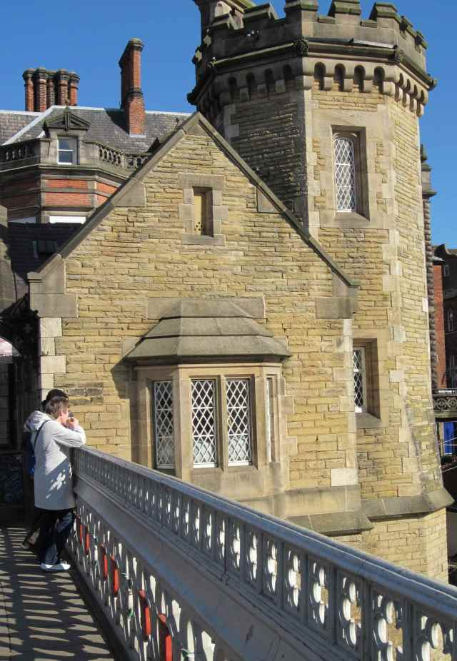 Building beside bridge in York