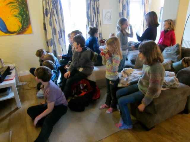 Children in sitting room