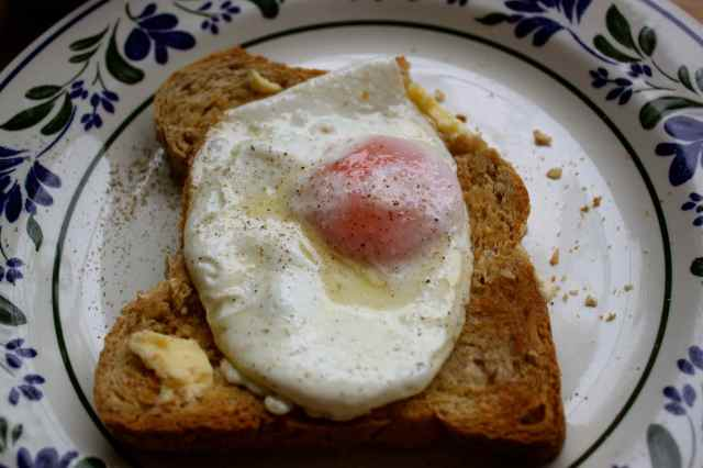fried egg on toast