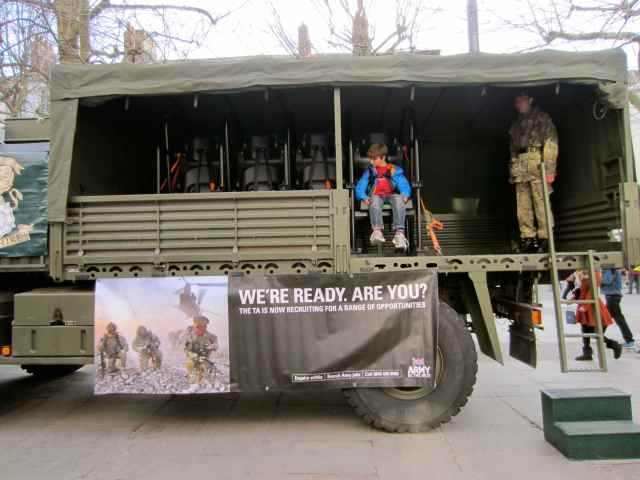 H in army truck