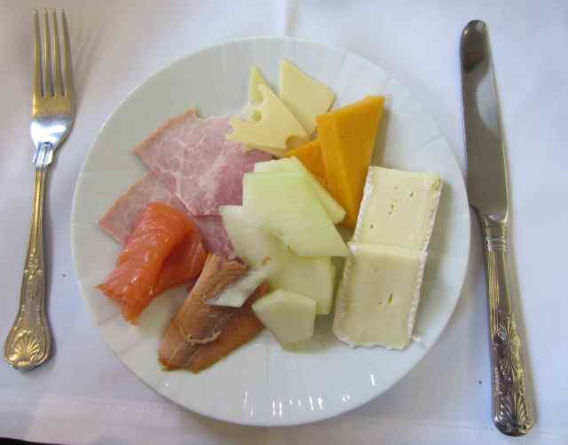ham, cheese and fish