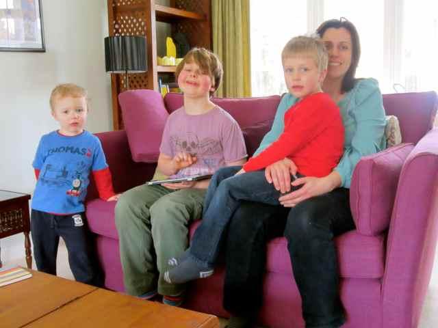 Helen and 3 boys