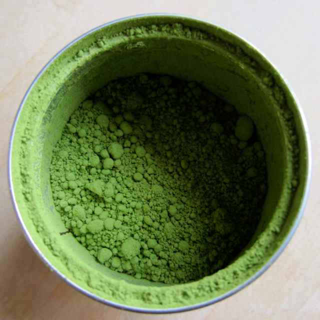 Inside matcha can