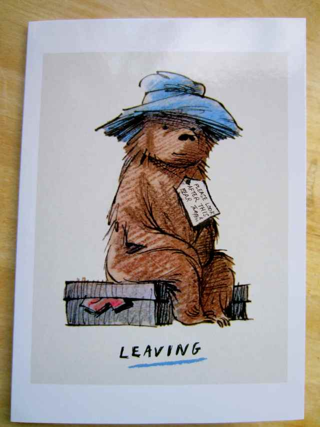 Leaving card