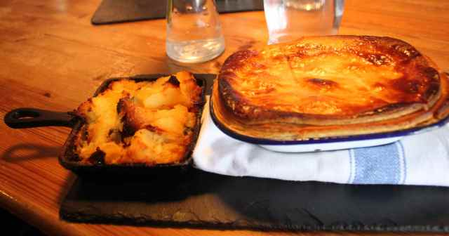 pie and potatoes