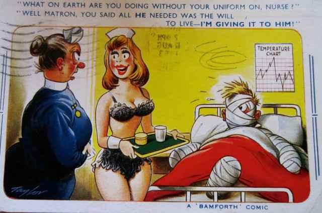 Saucy Nurse postcard