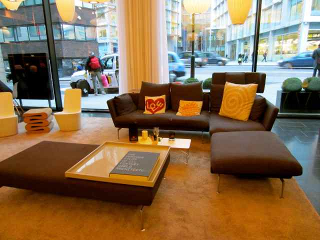 sofa in Citizen M bar