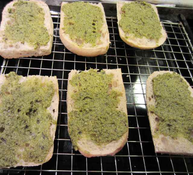 spread with pesto