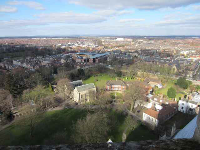 Views from the top of York Minster