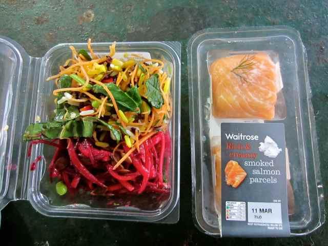 Waitrose salad and salmon
