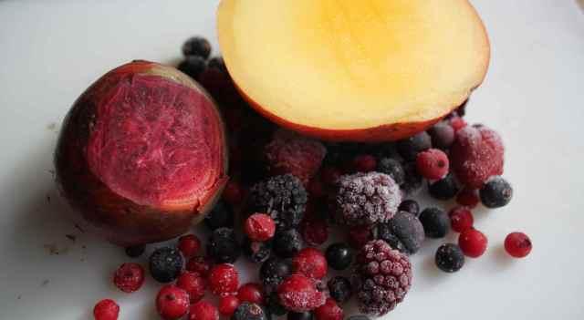 beetroot, mangoes and berries