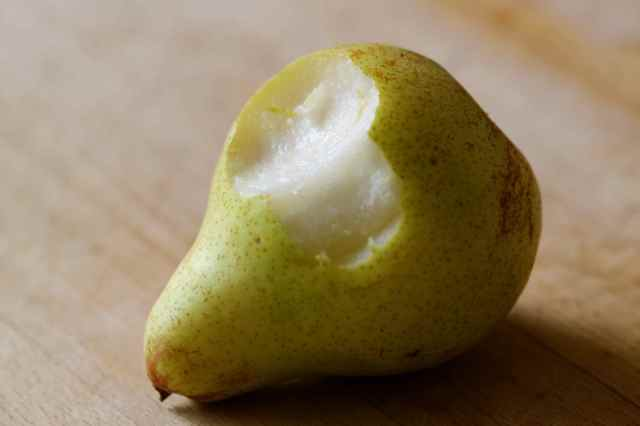 bite from a pear
