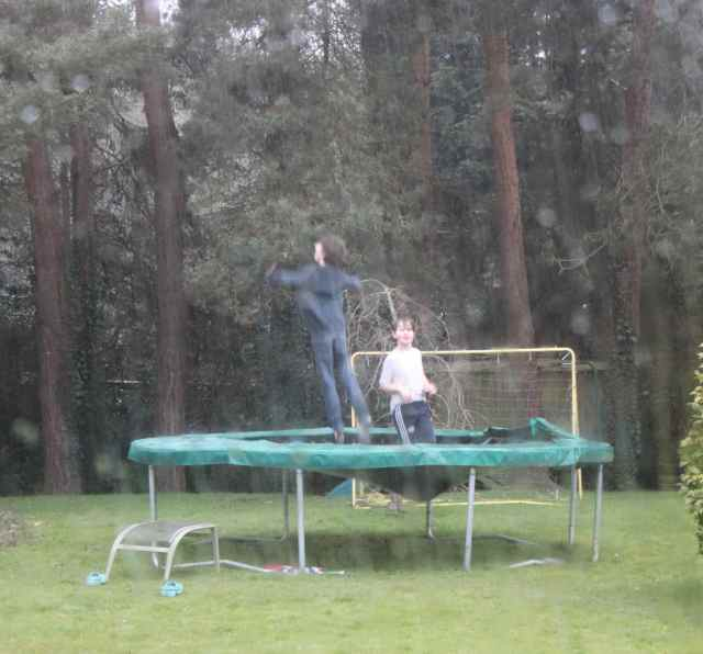 Boys on trampoline 2
