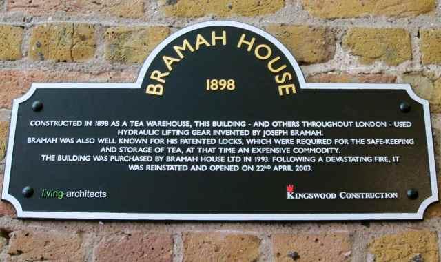 bramah House sign