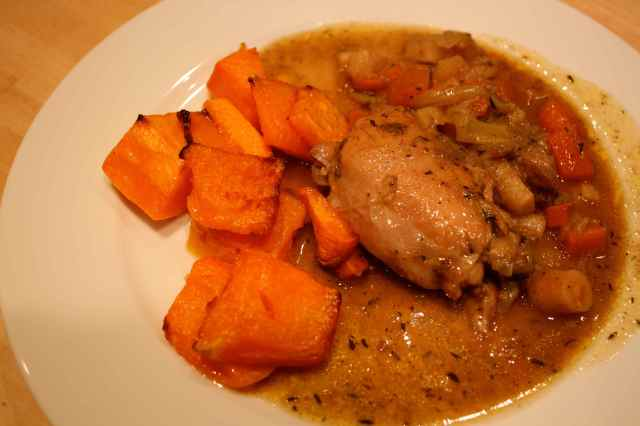 chicken with root vegetables