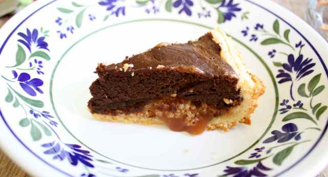 Chocolate fudge caramel cake