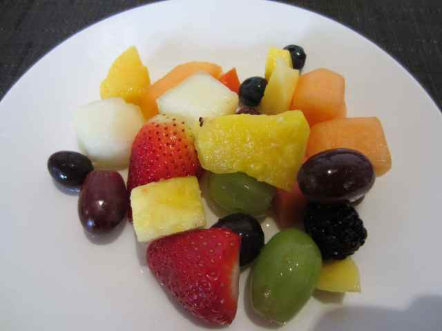 Fruit salad in hotel