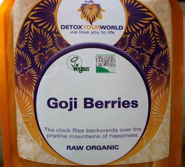 Goji Berries packet