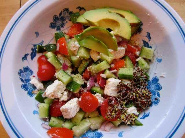 Greek salad 11-4-13
