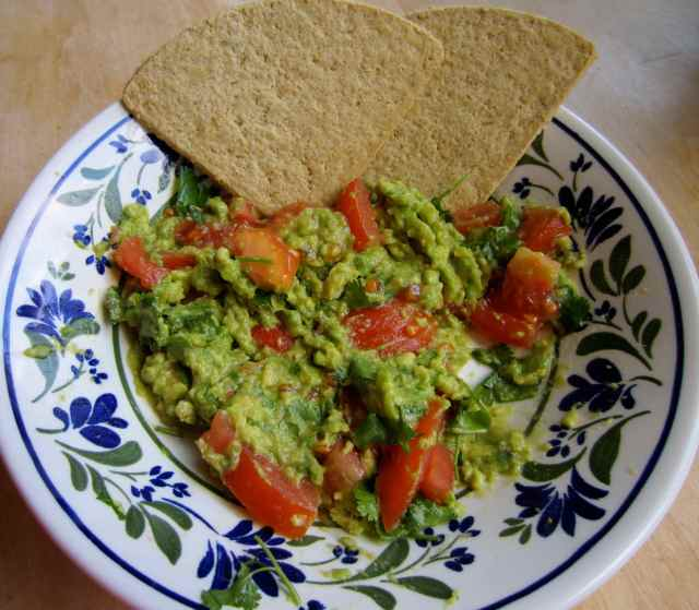 guacamole and oatcakes