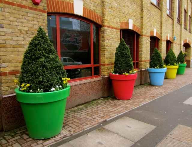 large flowerpots