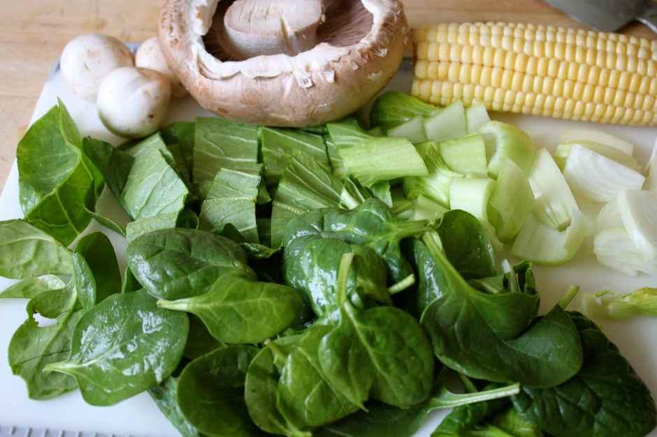 preparing veg