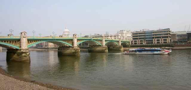 Southwark Bridge in Spring
