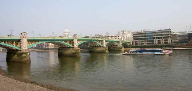 Southwark Bridge in Spring