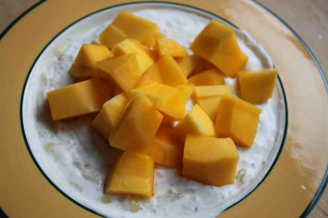 sunny mango breakfast