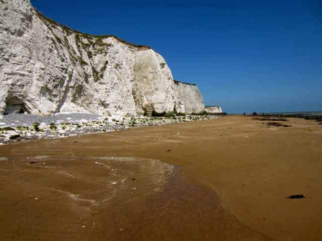 The beach, heading for Broadstairs