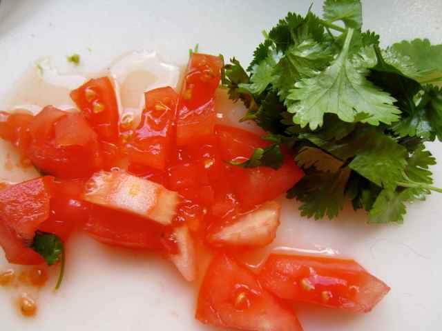 tomatoes and coriander