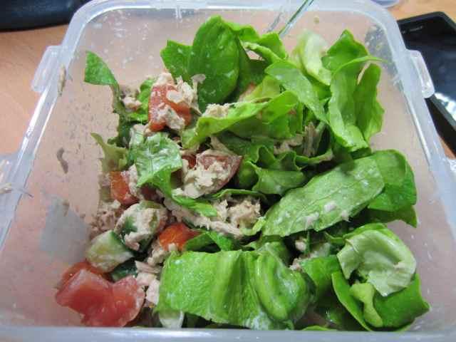 tuna salad at work