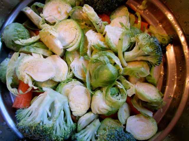veg in steamer
