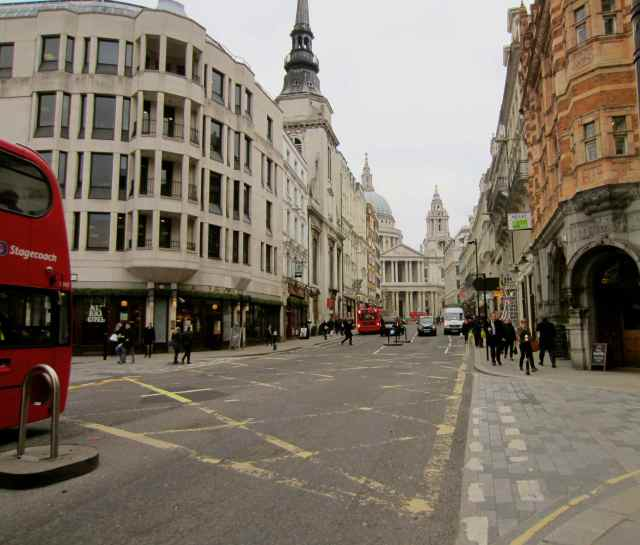 View up Ludgate Hill