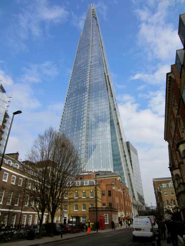 Walking up to The Shard