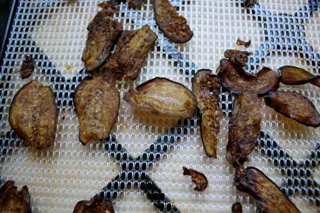 Aubergine crisps