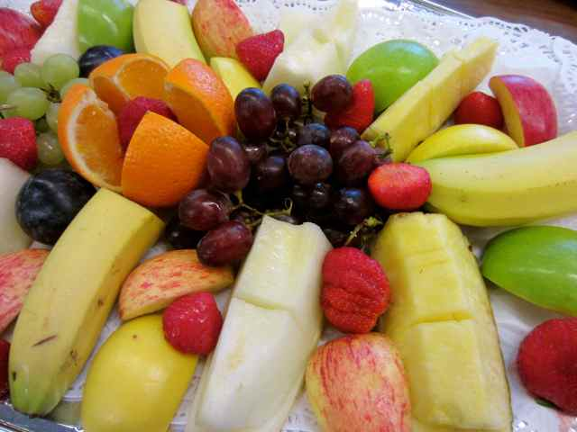 Fruit platter close up