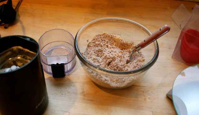 ground cacao and cashews