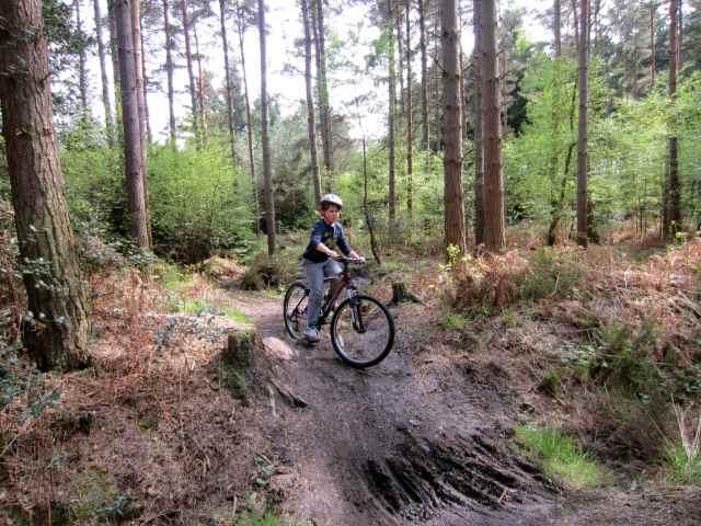 Harvey on hill on bike