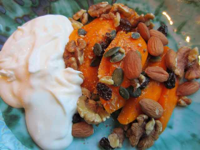 mango, yog and nuts