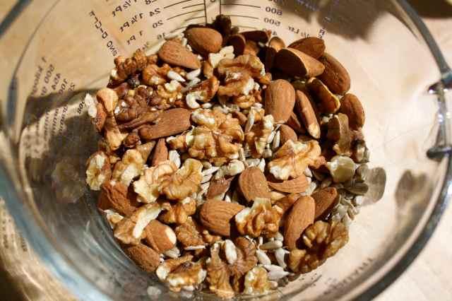 nuts in jug